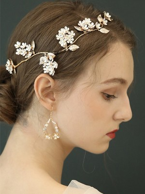 Charming Alloy With Imitation Pearl Hot Sale Earrings For Ladies