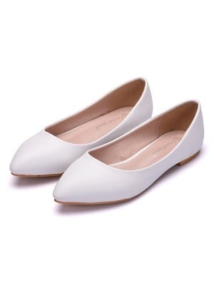 Women's PU Closed Toe Flat Heel Flat Shoes