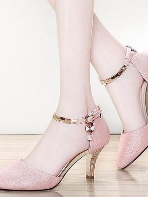 Women's Leatherette Stiletto Heel Closed Toe Sandals