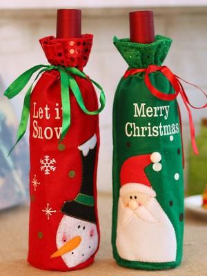 Fashion Nonwoven Fabric With Santa Claus/Snowman Christmas Decoration