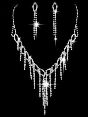 Attractive Rhinestone Jewelry Sets For Ladies