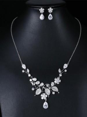 Occident Zircon Fashion Wedding Bridal Jewelry Set