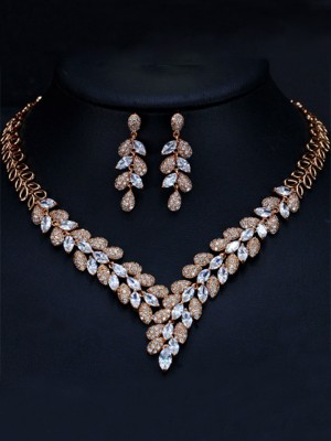 Women's Luxurious Artificial Gem Jewelry Set