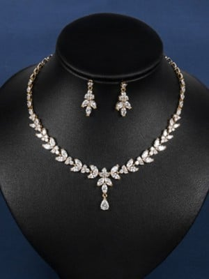 Fancy Copper Wedding Bridal Hot Sale Jewelry Set