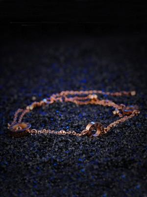 Ladies' Handmade Titanium Circle Bracelets