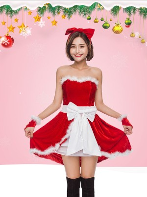 Sweet Polyester With Bowknot Christmas Clothes