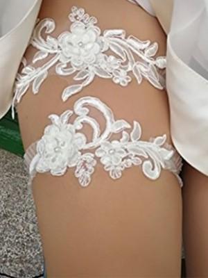 Sweet Bridal/Feminine Lace With Flower Garters