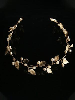 Charming Leaf Glass Headpieces