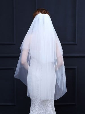 Pretty 2 Layer Tulle Wedding Veils