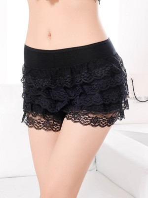 Soft Women's Modal Lace Elastic Safety Pants/Safety Shorts