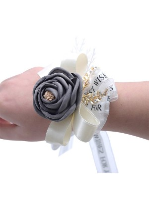 Nice Hand-tied Cloth Wrist Corsage