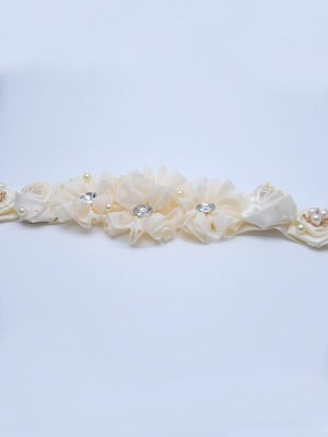 Fancy Satin Sashes With Crystals/Flowers