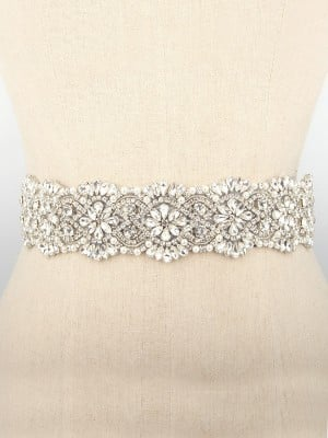 Gorgeous Cloth Sashes With Rhinestones/Imitation Pearls