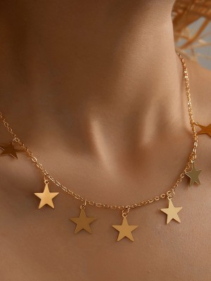Pretty Alloy With Star Necklaces For Women