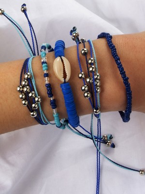 Special Alloy With Shell Bracelets(5 Pieces)