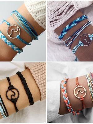 Trending Alloy With Wave Bracelets(3 Pieces)