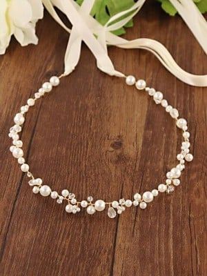 Classic Satin Sashes With Imitation Pearls