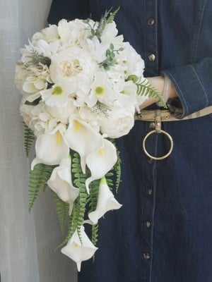 Fashion Cascade Silk Flower Bridal Bouquets