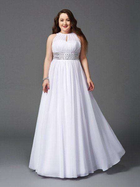 White Plus Size Prom Dresses Hebeos Online