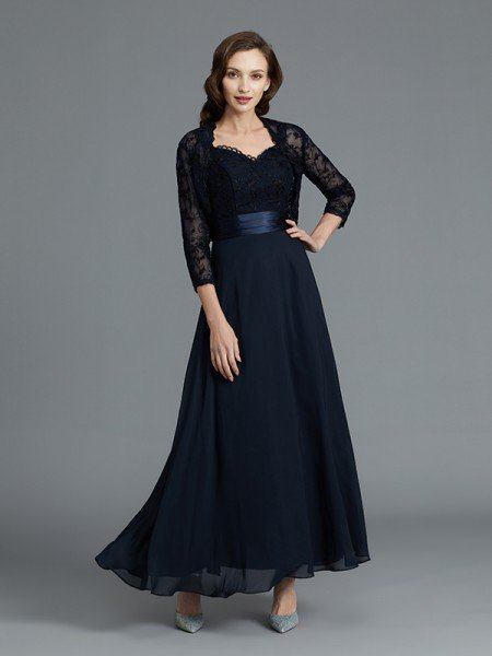 A-Line/Princess Sweetheart Sleeveless Chiffon Ankle-Length Mother of the Bride Dresses