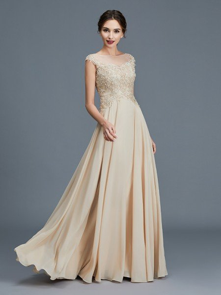 a78ebdcf4740 A-Line/Princess Scoop Sleeveless Ruffles Chiffon Floor-Length Mother of the  Bride