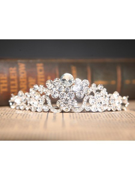 Amazing Clear Crystals Wedding Headpieces