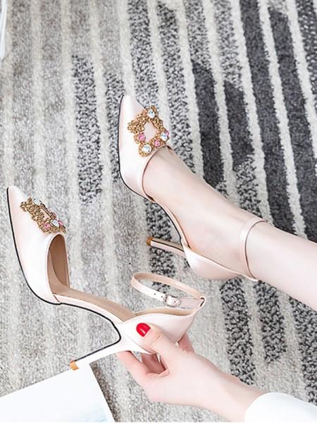 Women's Closed Toe Chunky Heel High Heels