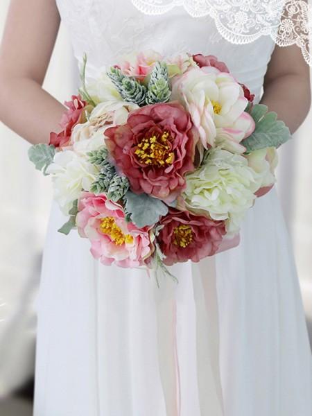 Fashion Round Silk Flower Bridal Bouquets