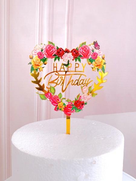 Gorgeous Acrylic Cake Topper
