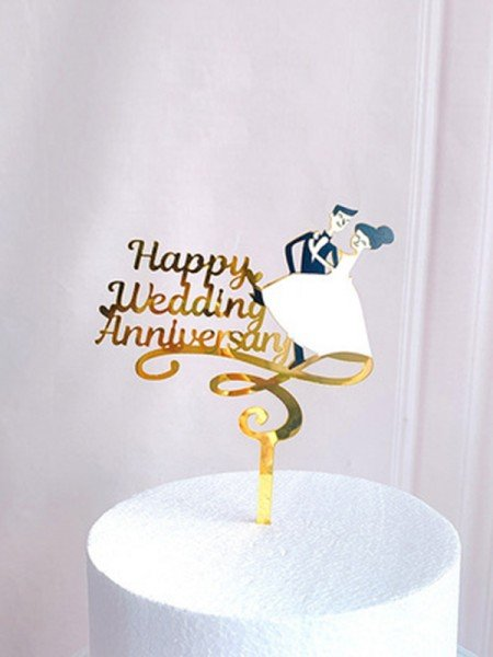 Lovely Acrylic Cake Topper