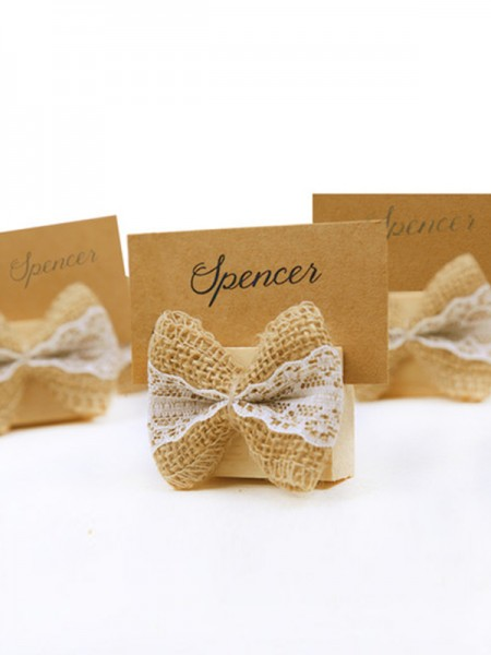 Lovely Bowknot Place Card Holders(20 Pieces)