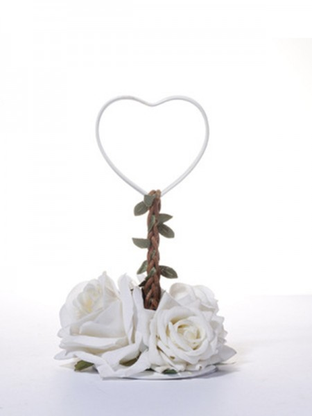Beautiful Iron With Flower Place Card Holders(5 Pieces)