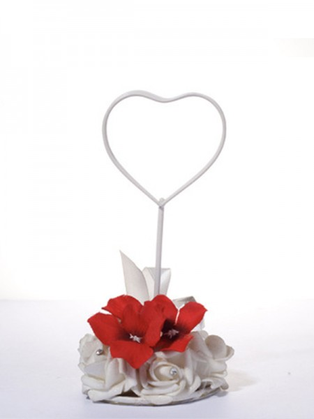 Exquisite Iron With Flower Place Card Holders(5 Pieces)