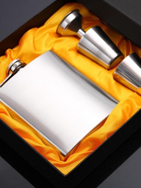 Groomsmen Gifts-Simple Stainless Steel Flask