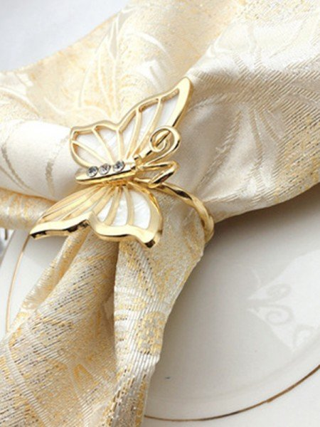 Beautiful Alloy With Rhinestone Napkin Rings(6 Pieces)