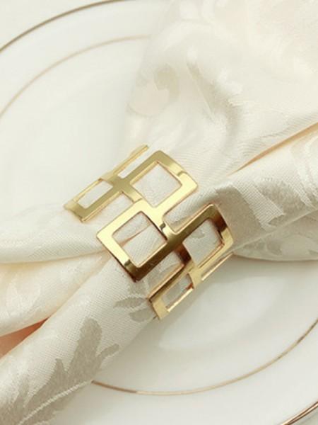 Elegant Metal Napkin Rings(6 Pieces)