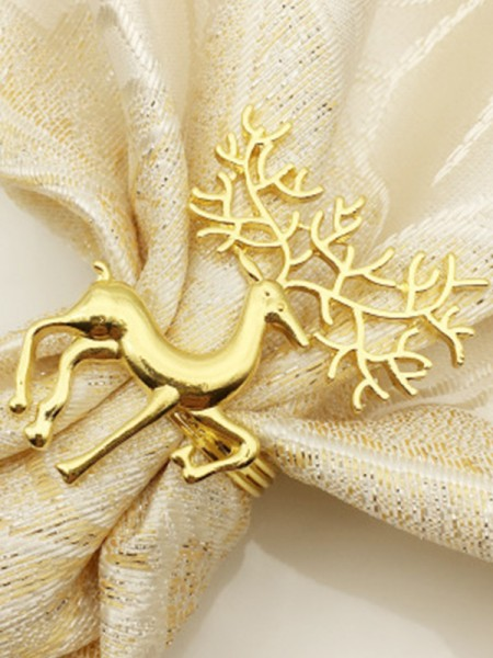 Lovely Alloy With Wapiti Napkin Rings(6 Pieces)