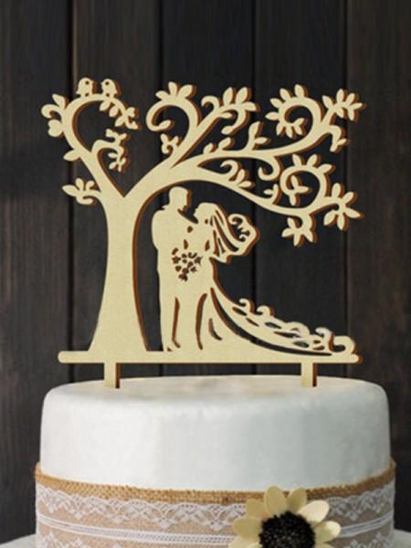 Stunning Wooden Cake Topper