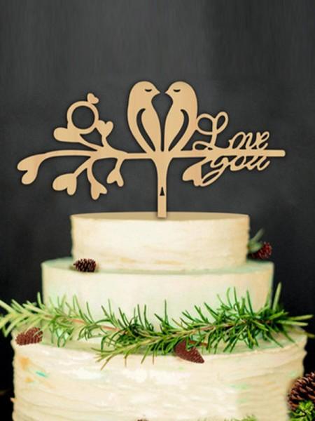 Fancy Wooden Cake Topper