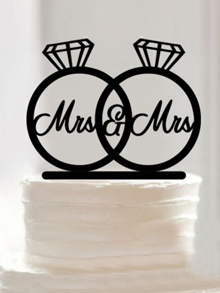 Exquisite Acrylic Cake Topper