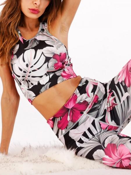 Nice Cotton Print Yoga Suits