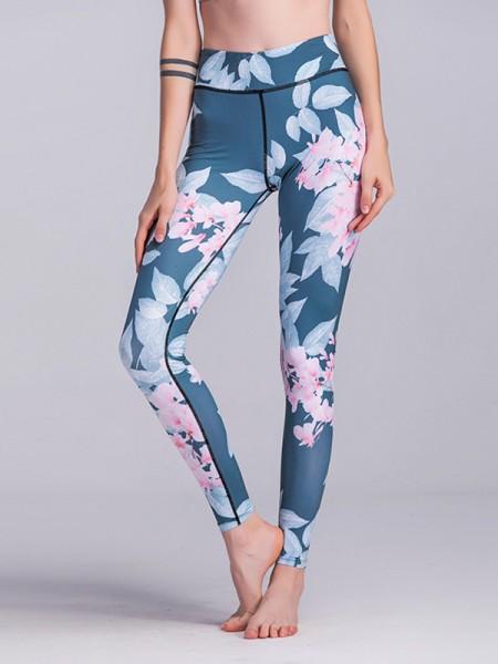 Soft Cotton Print Yoga Pants