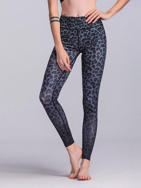 Cosy Cotton Leopard Print Yoga Pants