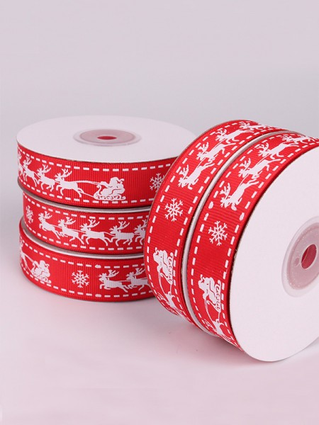 Elegant Deer Christmas Ribbons(2 Pieces)
