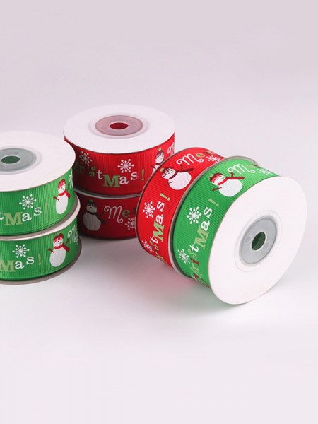 Comfortable Snowman Christmas Ribbons(2 Pieces)