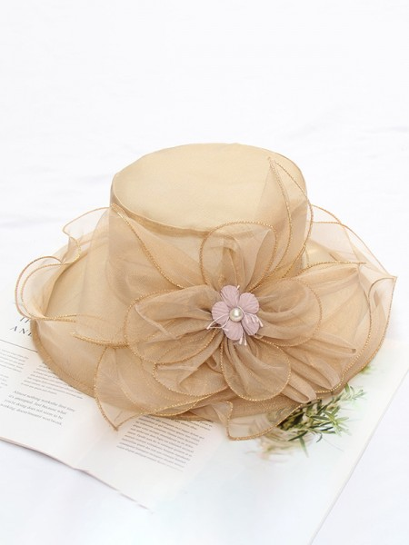 Ladies' Elegant Silk Flower Kentucky Derby Hats/Tea Party Hats