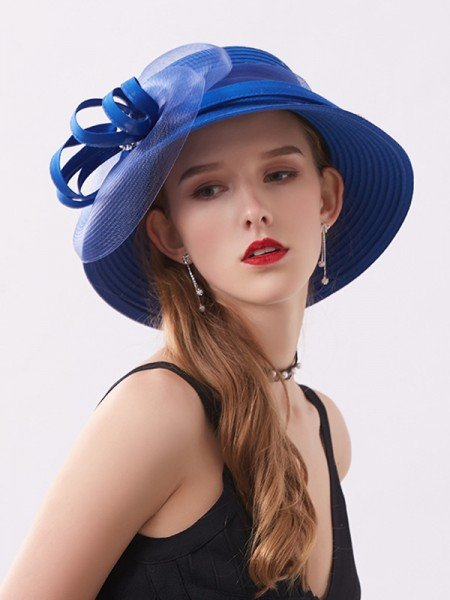 Ladies' Lovely Silk Flower Adjustable Floppy Hats