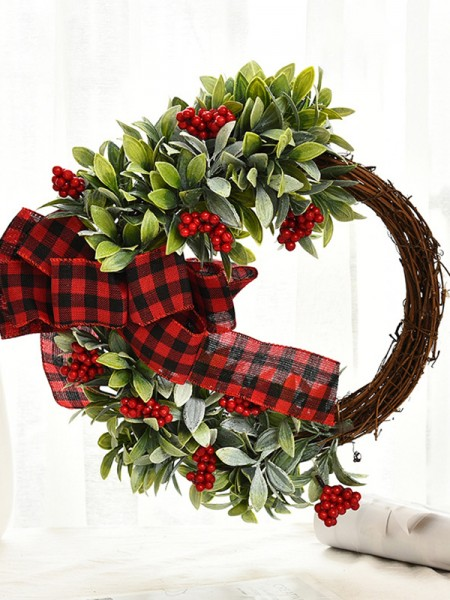 Unique Wood Bowknot Christmas Wreaths