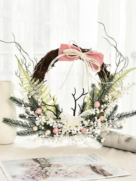 Trending Wood Bowknot Christmas Wreaths