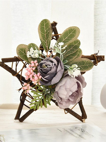 Magical Wood Flower Christmas Wreaths